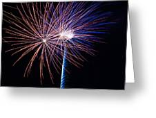 Red White And Boom Greeting Card