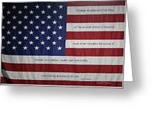 Red White And True Greeting Card