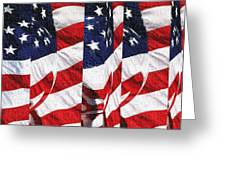 Red White Blue - American Stars And Stripes Greeting Card