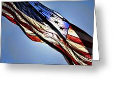 Red White  Blue Greeting Card