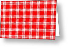 Red White Tartan Greeting Card