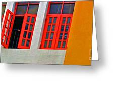Red Windows Greeting Card