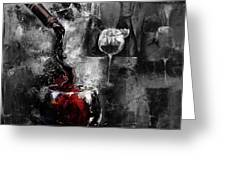 Red Wine 01 Greeting Card