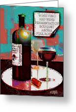 Red Wine For Two Greeting Card