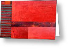 Red With Orange 2.0 Greeting Card