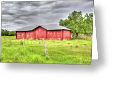 Red Wood Barn - Edna, Tx Greeting Card