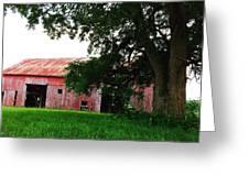 Red Wood Barn Greeting Card