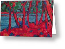 Red Woods Greeting Card