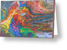 Red Yellow Blue Abstract Greeting Card