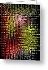 Red Yellow White Black Abstract Greeting Card