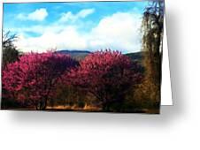 Redbud In The Blue Ridge Greeting Card