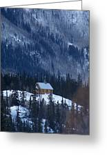 Redcloud Chapel In Blue Greeting Card by David Ackerson