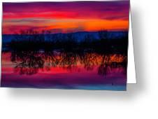 Reddening Sunset Greeting Card