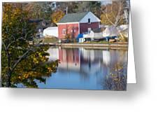 Redd's Pond Boathouse Marblehead Ma Massachusetts Greeting Card