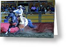 Rodeo Queen At The Grand National Rodeo Greeting Card