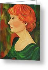Redhead Girl Greeting Card