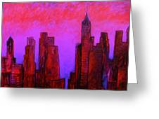 Redhot City Greeting Card