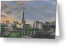Redlands Temple Greeting Card by Jeff Brimley