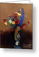 Redon: Wild Flowers, C1912 Greeting Card