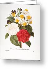 Redoute: Bouquet, 1833 Greeting Card