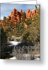 Redrock Winter Greeting Card