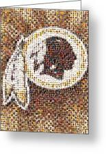 Redskins Mosaic Greeting Card