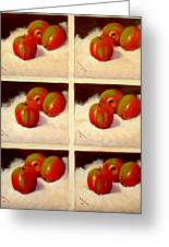 Redundant Apples Greeting Card