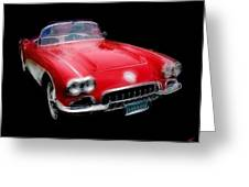 Redvette Greeting Card