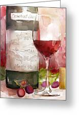 Redwinewatercolor Greeting Card