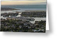 Redwood City, California Aerial Greeting Card