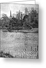 Reeds And Religion Black And White Greeting Card