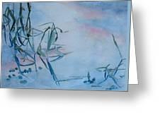 Reeds At Sunset Greeting Card