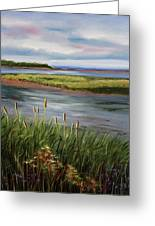 Reeds By The Water Greeting Card