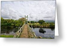 Reeth Swing Bridge Greeting Card