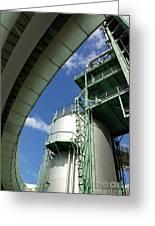 Refinery Detail Greeting Card by Carlos Caetano