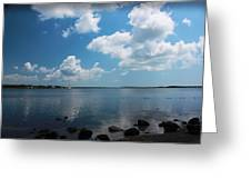 Reflecting Clouds  Greeting Card