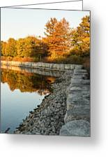 Reflecting On Autumn - Gray Rocks Highlighting The Foliage Brilliance Greeting Card