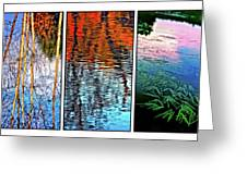 Reflecting On Autumn - Triptych Greeting Card