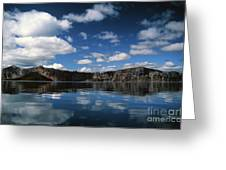 Reflecting On Crater Lake Greeting Card