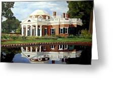 Reflecting On Jefferson Greeting Card
