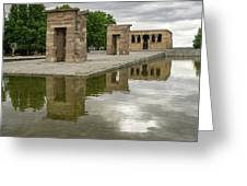 Reflecting On Millennia - Egyptian Temple Of Debod In Madrid Spain  Greeting Card
