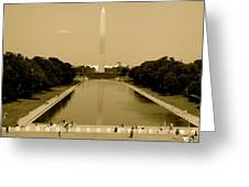 Reflecting Pool Of The Washington Monument Greeting Card