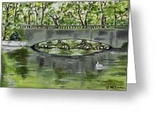 Bridge Over The River Greeting Card