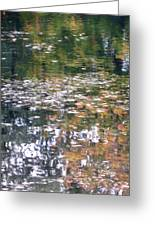 Fall Reflections 4 On Jamaica Pond Greeting Card