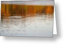 Fall Reflections 6 On Jamaica Pond Greeting Card
