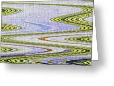 Reflection Abstract Abstract Greeting Card