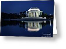 Reflection At Blue Hour Greeting Card