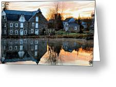 Reflection At Wagner Mill Greeting Card