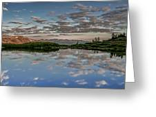 Reflection In A Mountain Pond Greeting Card