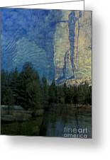Reflection In The Merced River Greeting Card